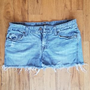 7 FOR ALL MANKIND GREAT COND DISTRESS JEAN SHORTS